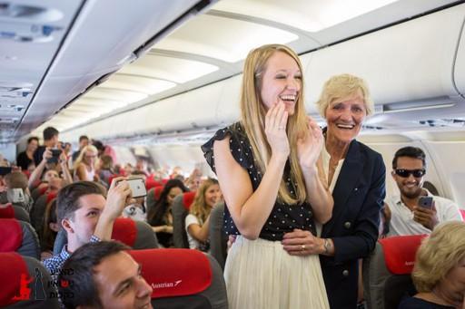 הצעת נישואין על מטוס